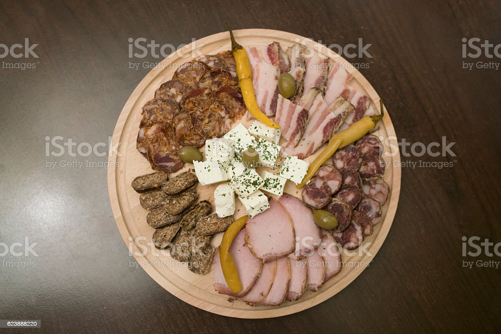 Savory specialties stock photo