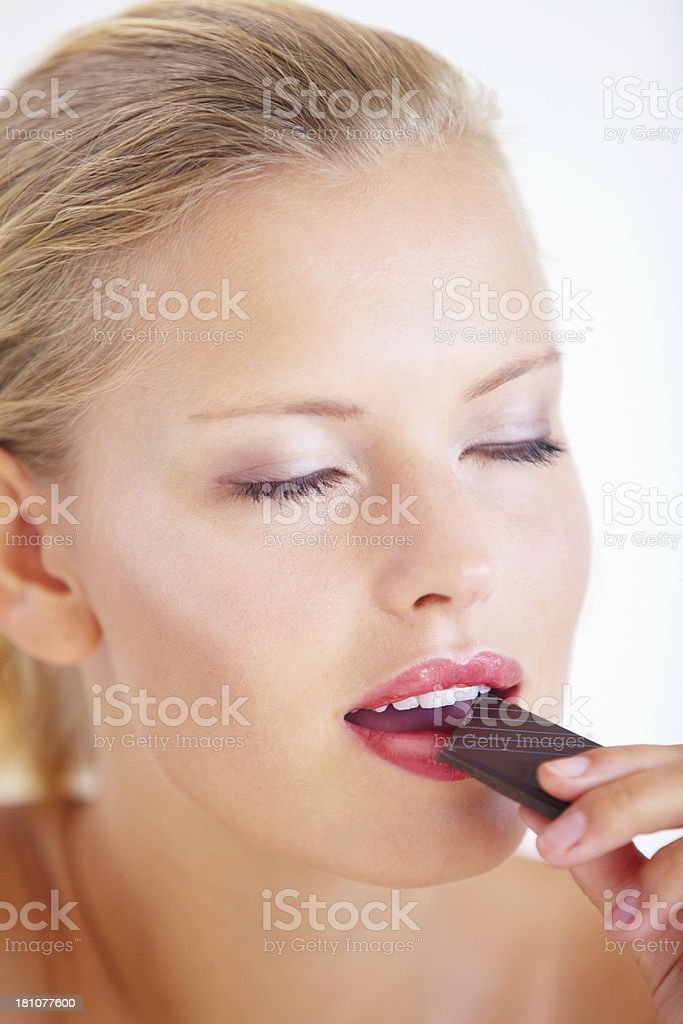 Savouring the sweet flavor royalty-free stock photo