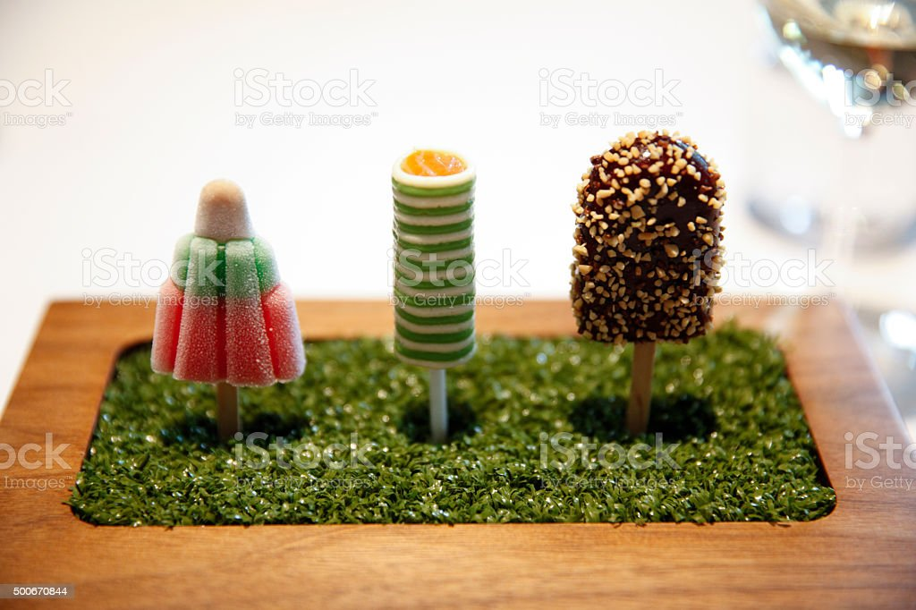 Savoury Lollies stock photo