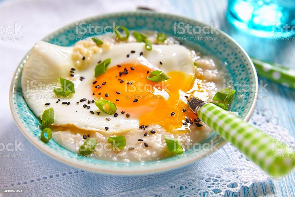 Savoury porridge stock photo