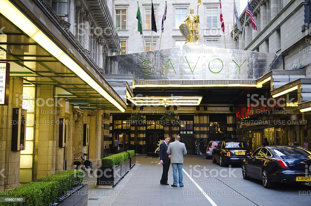Savoy Hotel in London, England stock photo