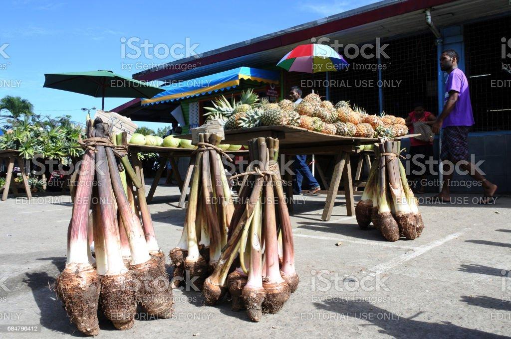 Savusavu market Vanua Levu Fiji stock photo