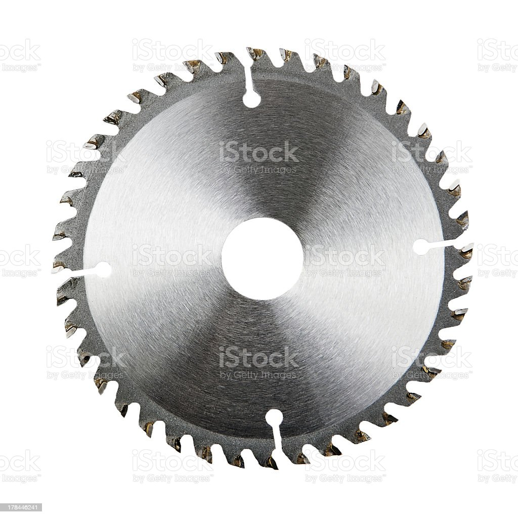 saw blade isolated on white stock photo