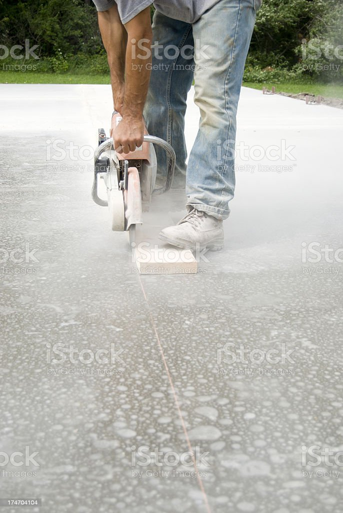 Saw Cuts in Concrete royalty-free stock photo
