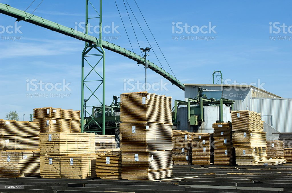 Saw mill - finished lumber. royalty-free stock photo