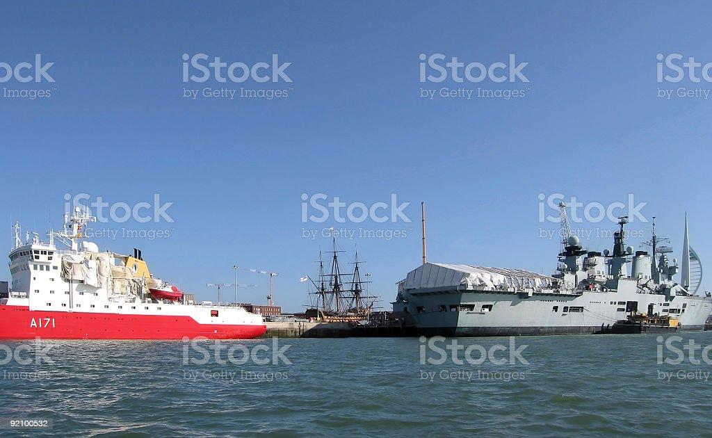 I saw three ships stock photo