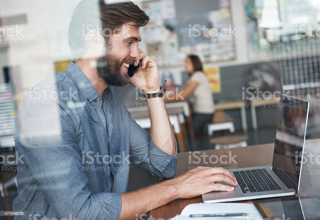 I saw your email and thought I'd call... stock photo