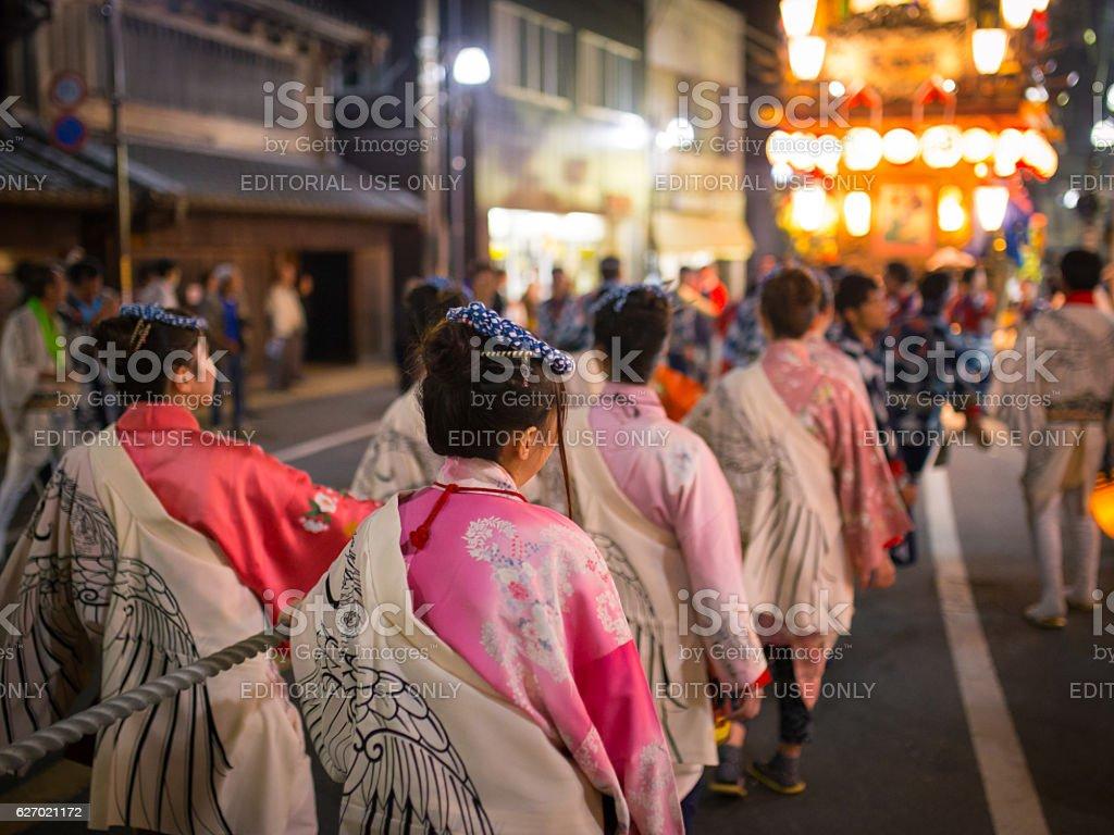 Sawara Autumn Festival - UNESCO World Cultural Heritage stock photo