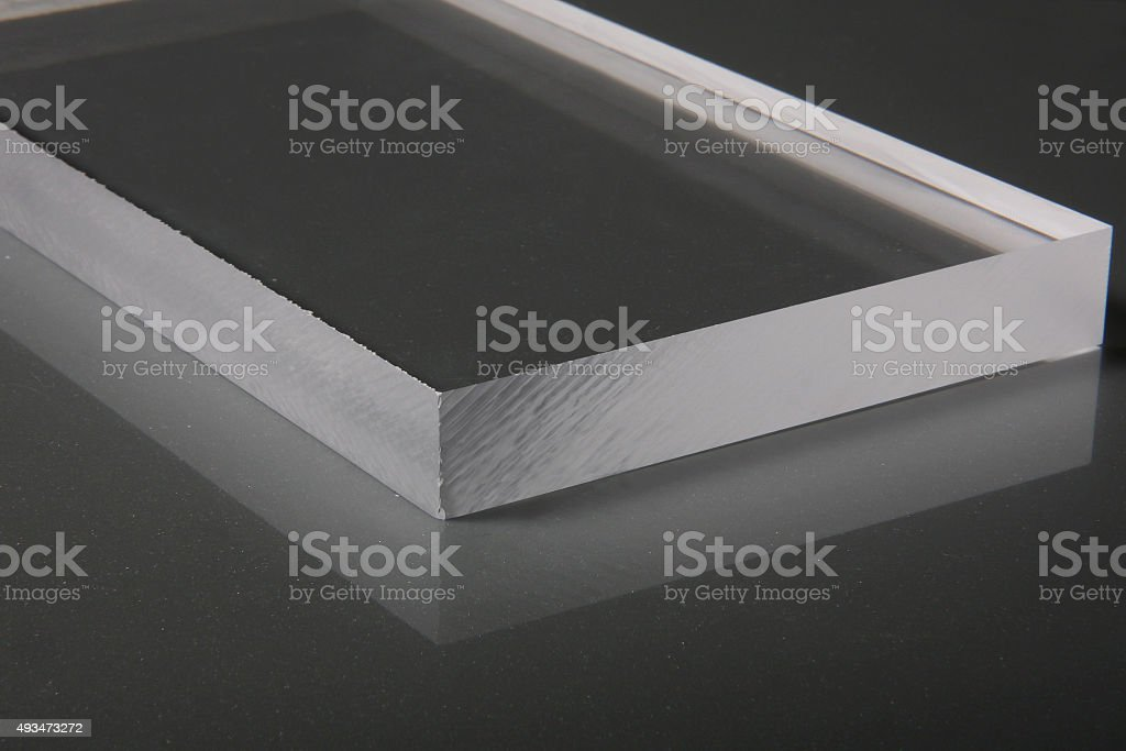 Sawcut Clear Acrylic Sheet stock photo