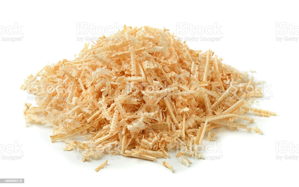 Sawdust and shavings stock photo