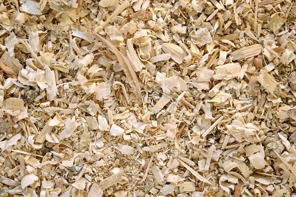 Sawdust animal bedding (Texture) royalty-free stock photo