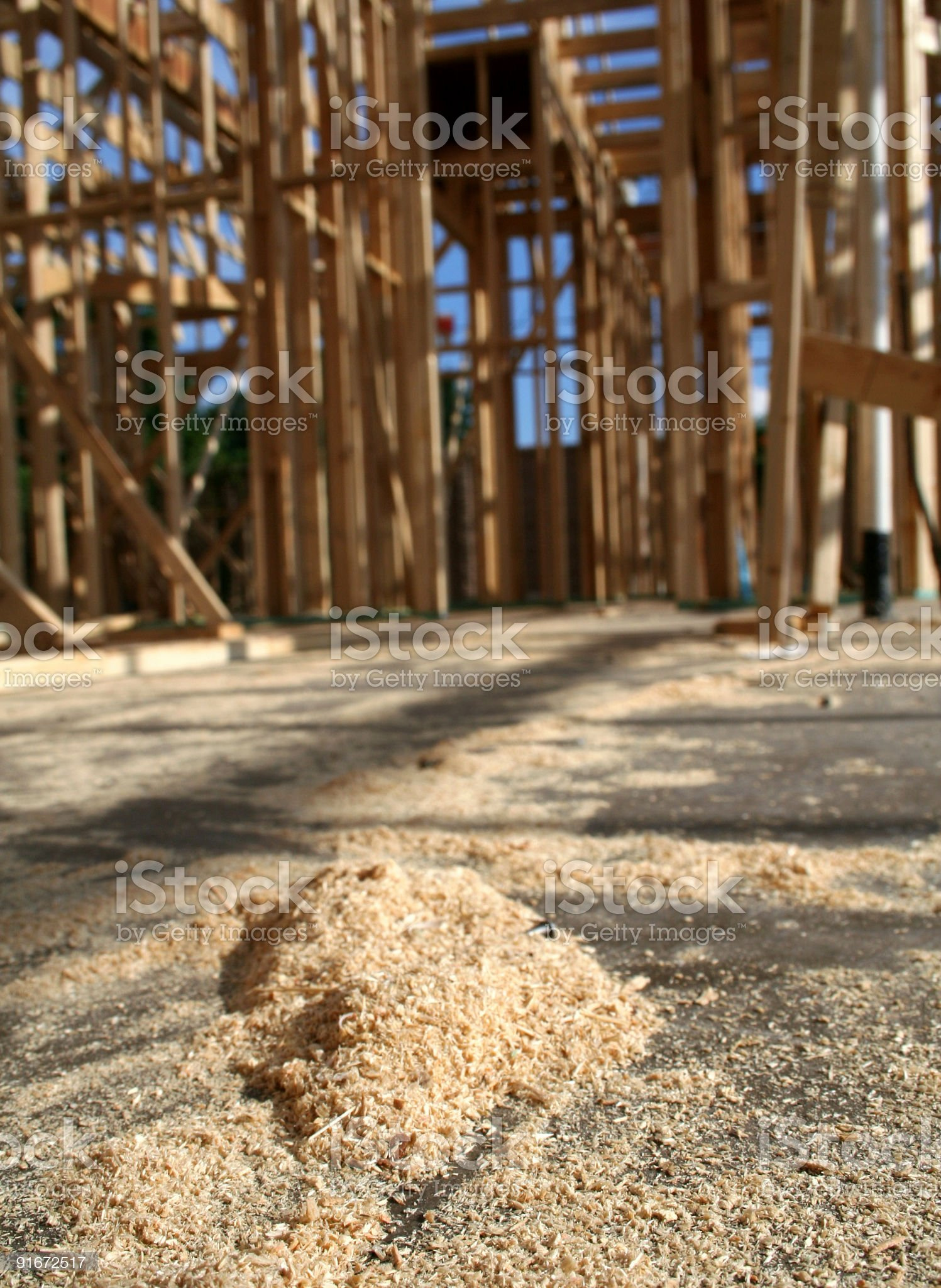 Sawdust at Construction Site royalty-free stock photo