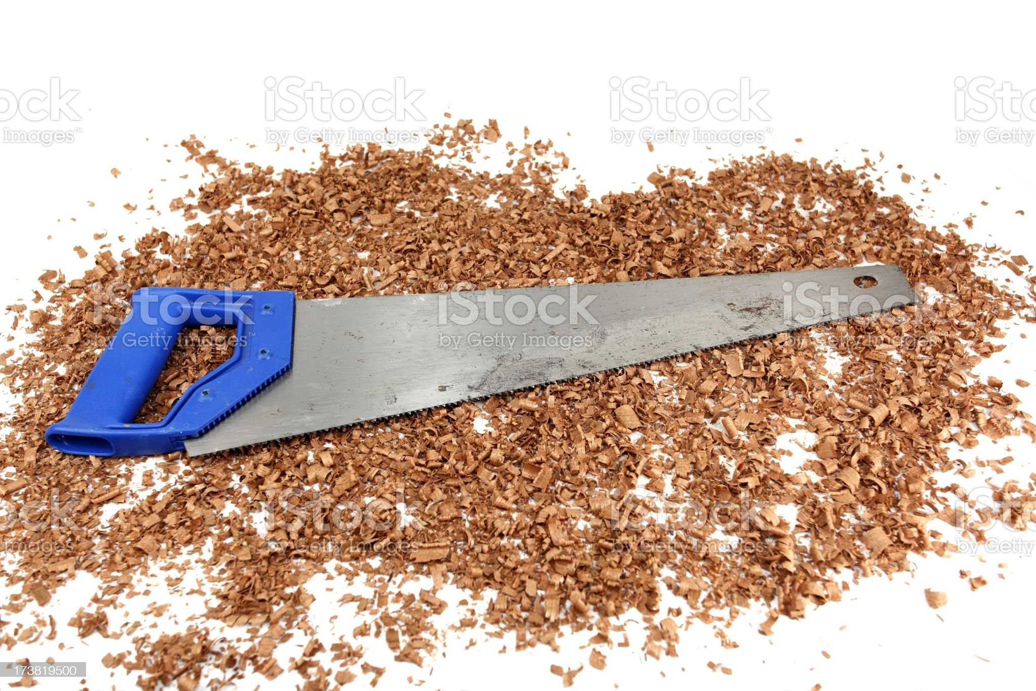 Saw-dust royalty-free stock photo