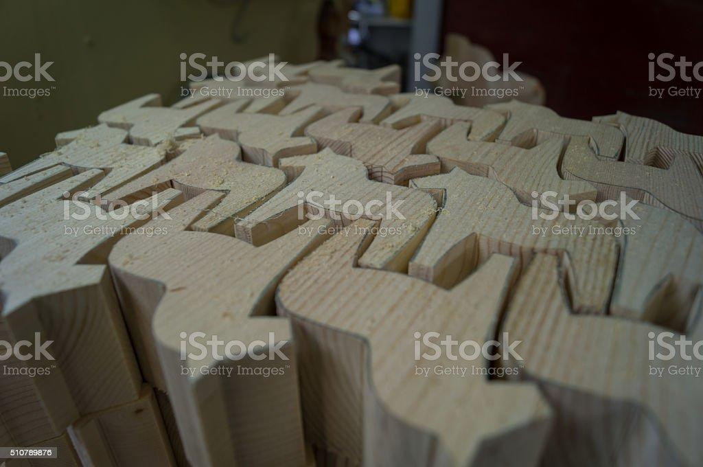 sawed Dalecarlian horses stock photo