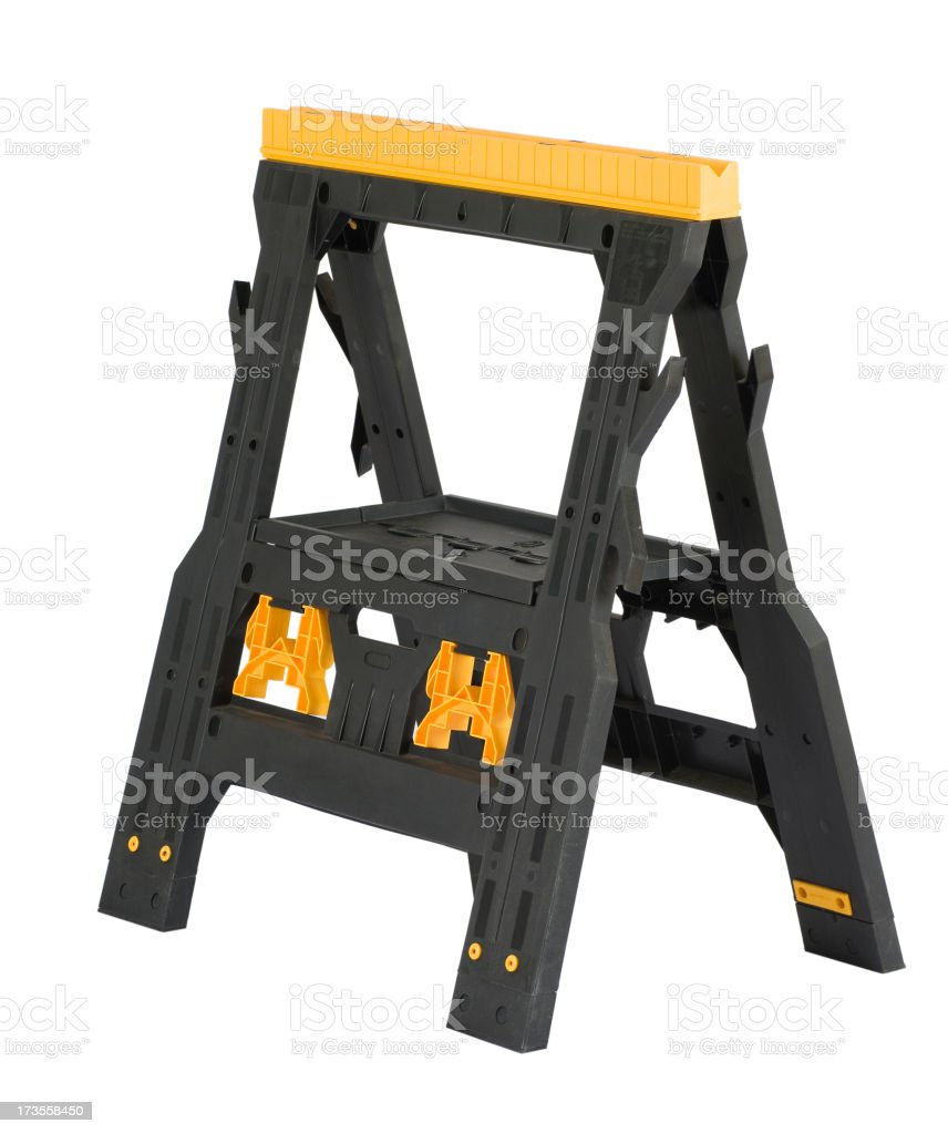 Sawhorse Isolated on White royalty-free stock photo