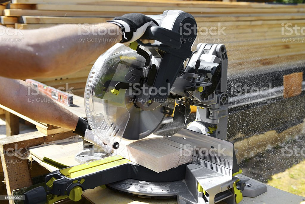 sawing boards royalty-free stock photo