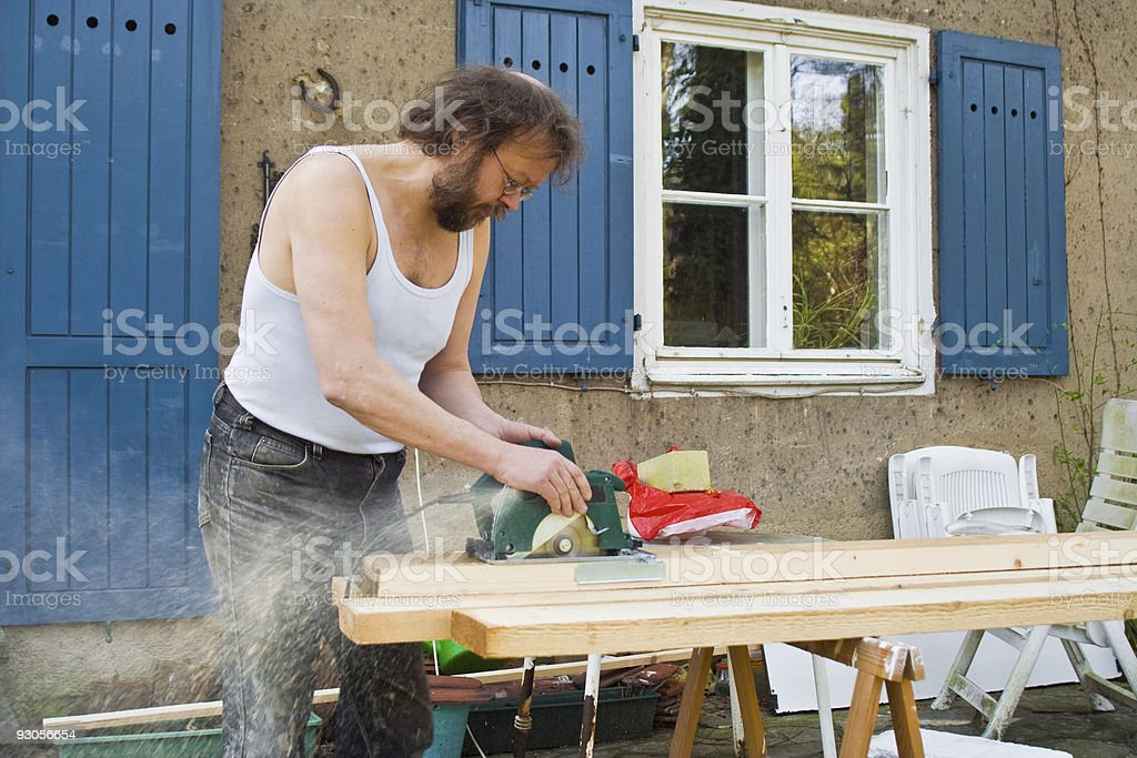 sawing stock photo