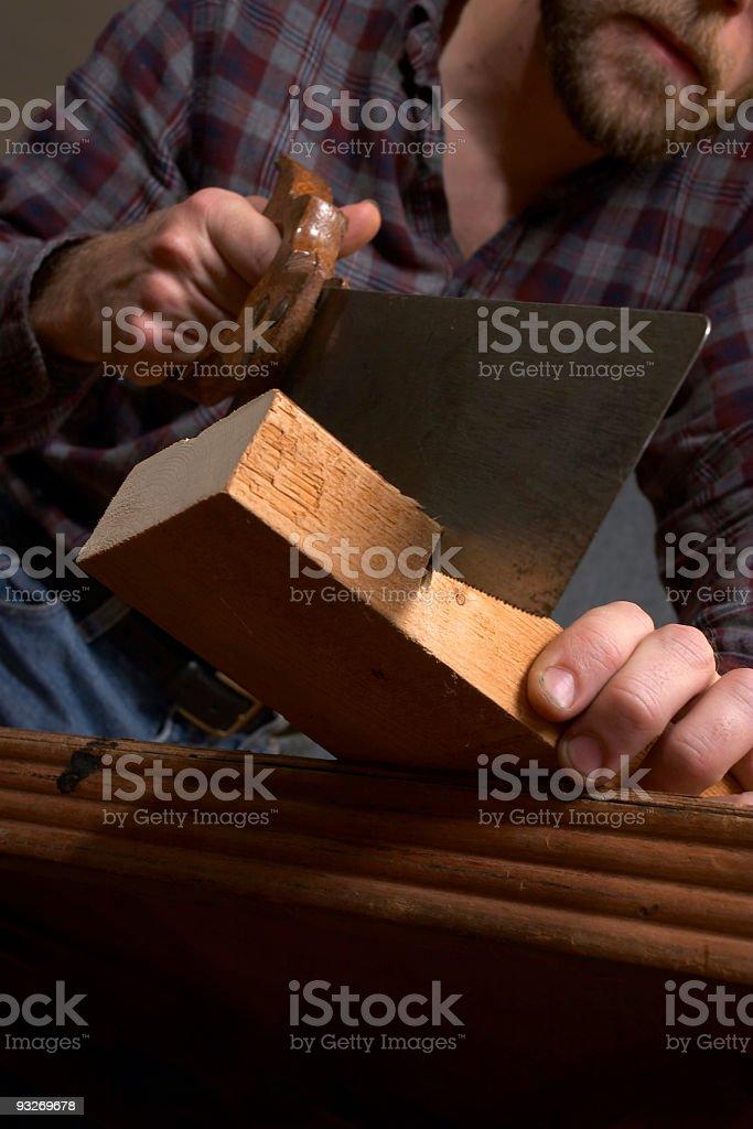 Sawing Wood royalty-free stock photo