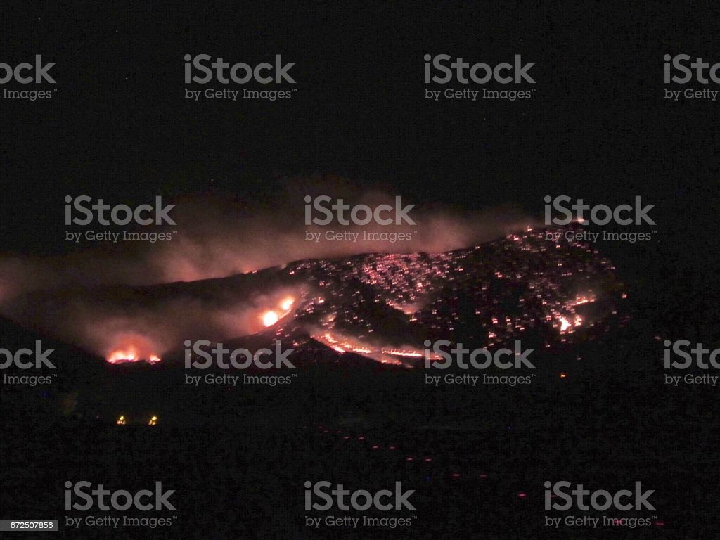 Sawmill Fire in Southern Arizona stock photo