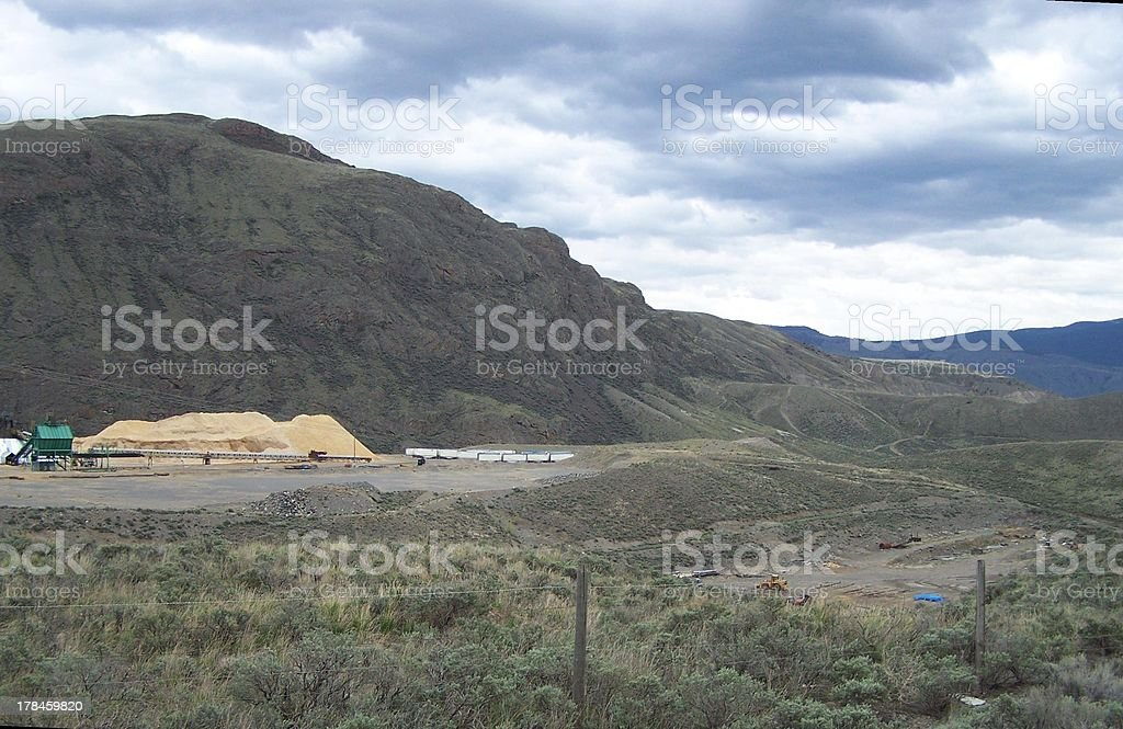 Sawmill in the ranch lands royalty-free stock photo