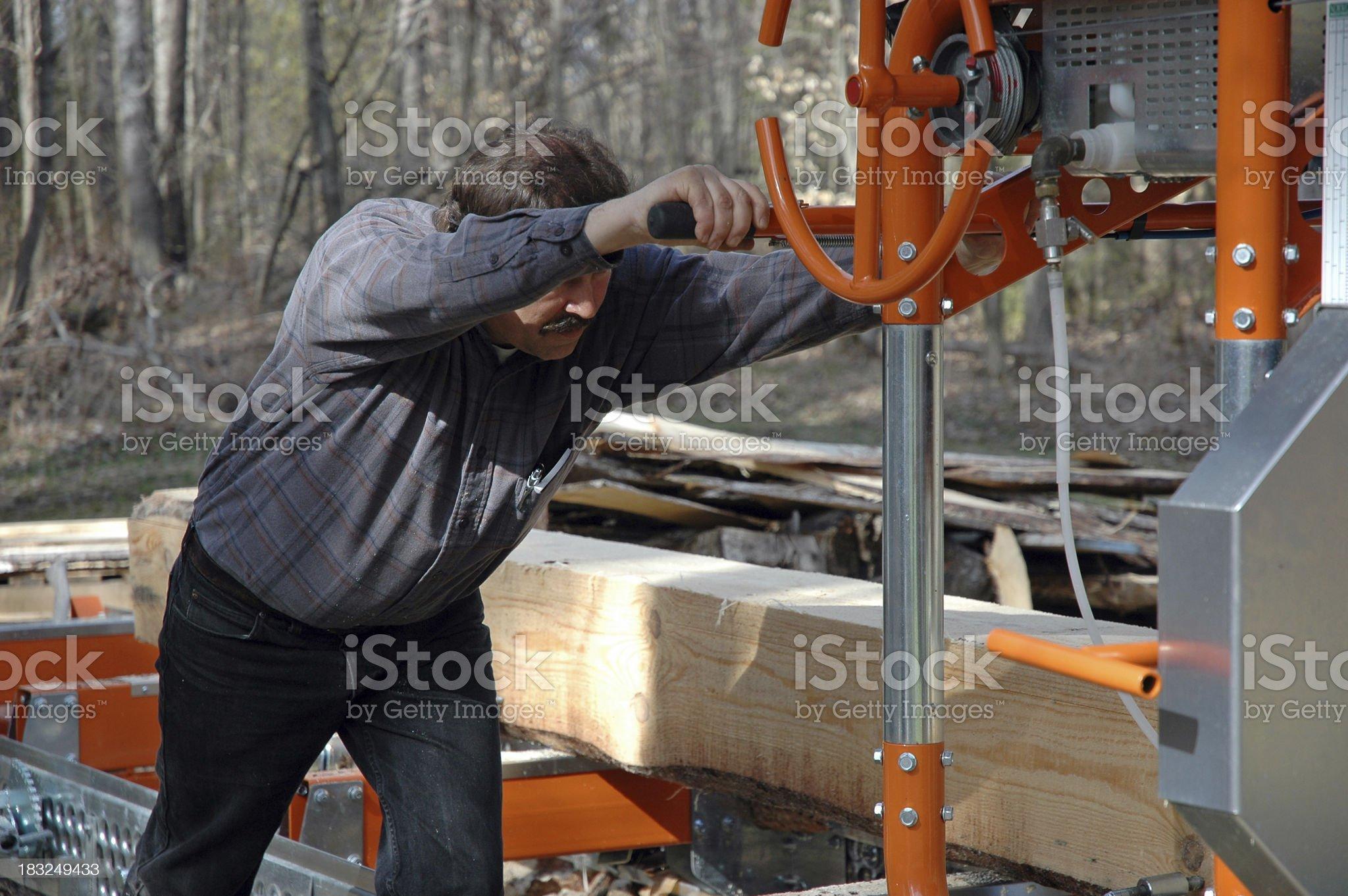 Sawmill Operator royalty-free stock photo