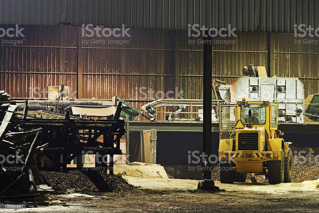 Sawmill view stock photo
