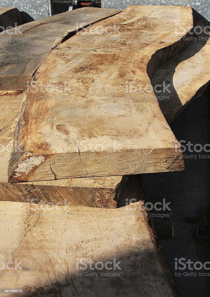 Sawn taglio legno foto stock royalty-free