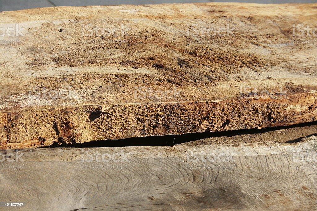 Sawn taglio del legno, segatura foto stock royalty-free