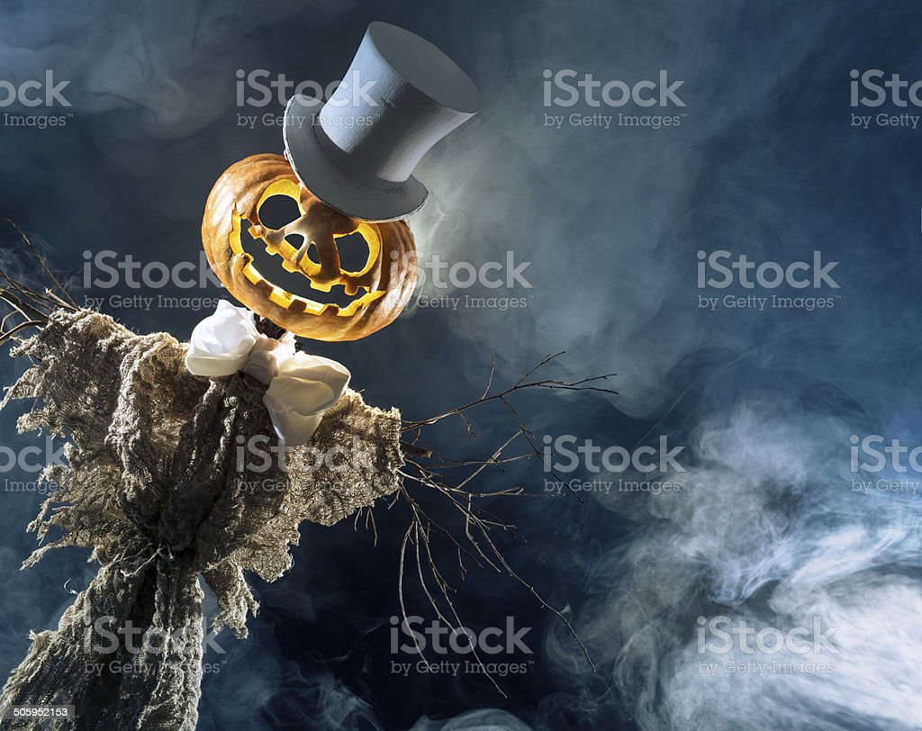 Sawn posters on Halloween stock photo