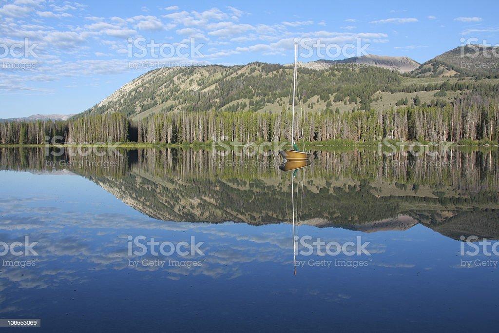 Sawtooth Mountain Lake stock photo