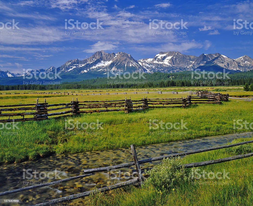 Sawtooth Mountain Range, Idaho stock photo