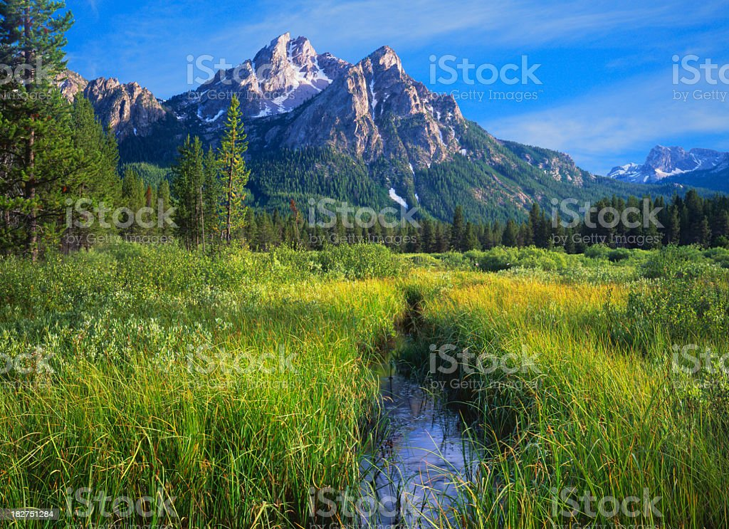 Sawtooth Mountain Range, Idaho (P) stock photo