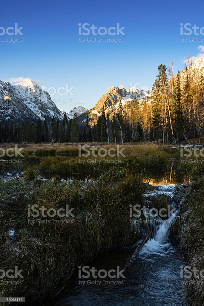 Sawtooth mountain range stock photo