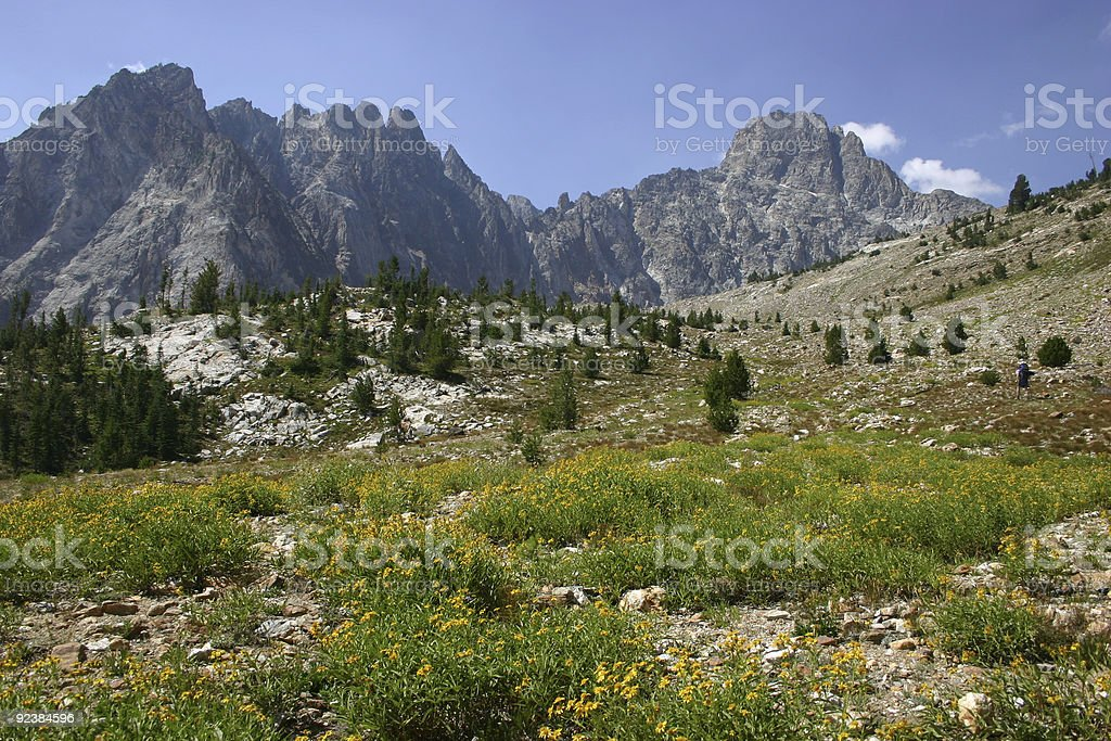 Sawtooth Mountains, Idaho stock photo