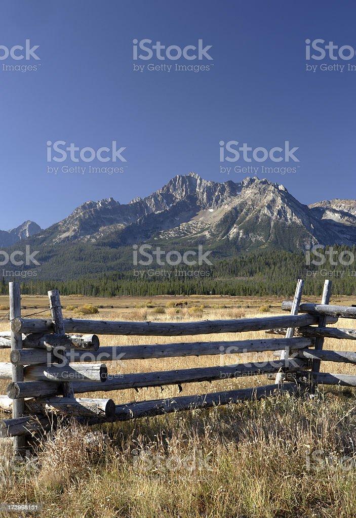 Sawtooth Mountains royalty-free stock photo