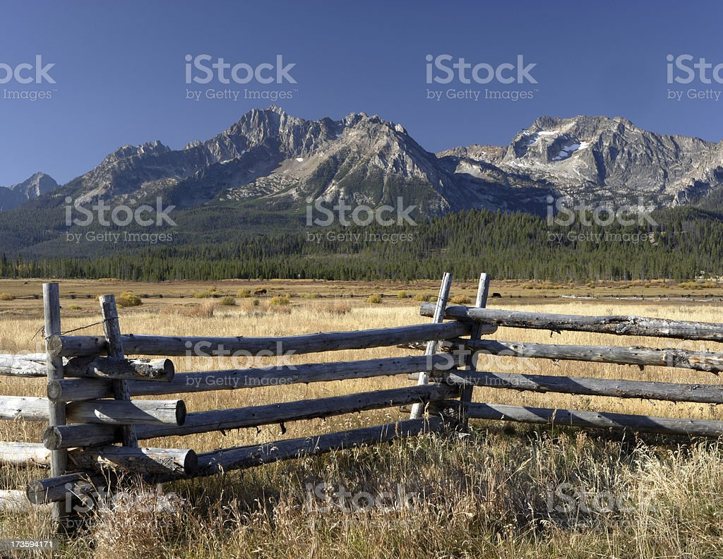 Sawtooth Mountains royalty-free stock photo