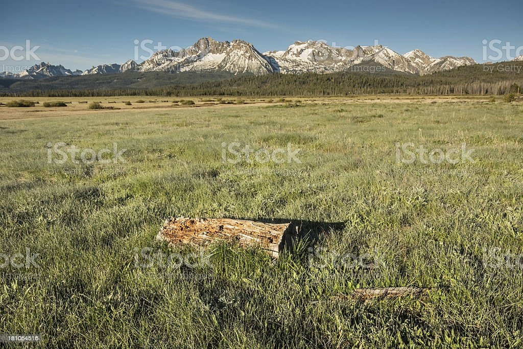 Sawtooth Wilderness in Rocky Mountains of Idaho royalty-free stock photo