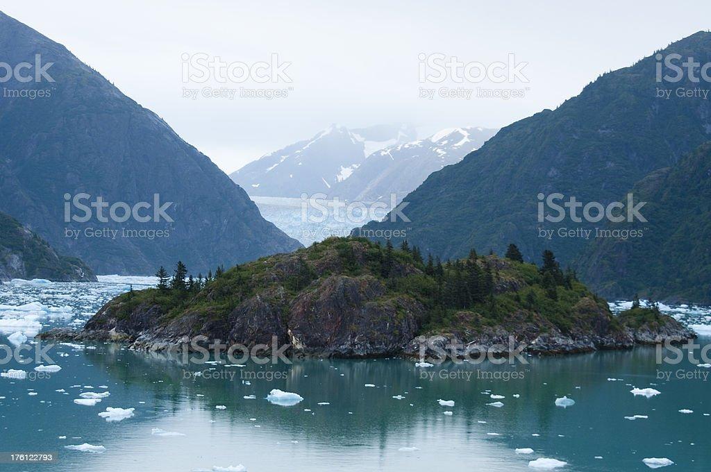 Sawyer Glacier - Alaska stock photo