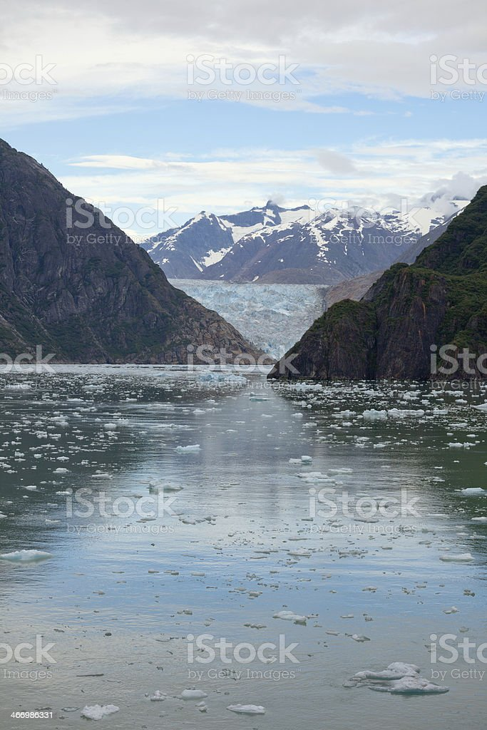 Sawyer Glacier, Alaska stock photo
