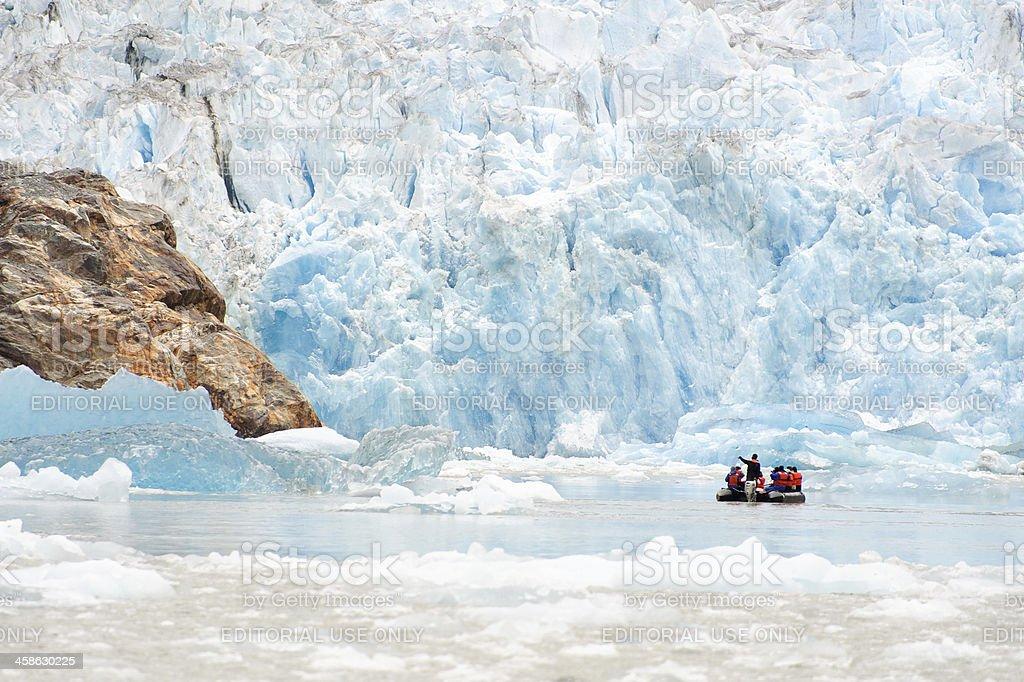 Sawyer Glacier Looming stock photo