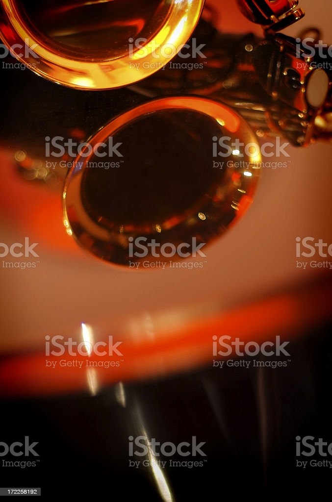 Sax hole royalty-free stock photo