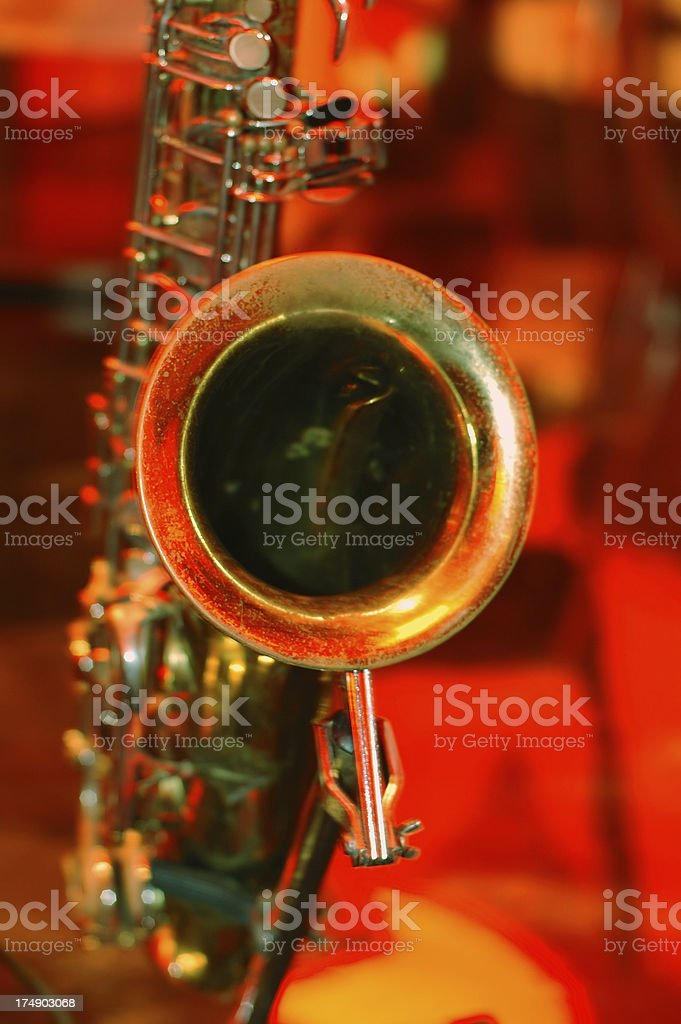 Sax it. royalty-free stock photo