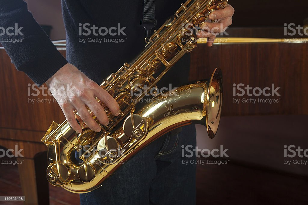 Sax royalty-free stock photo