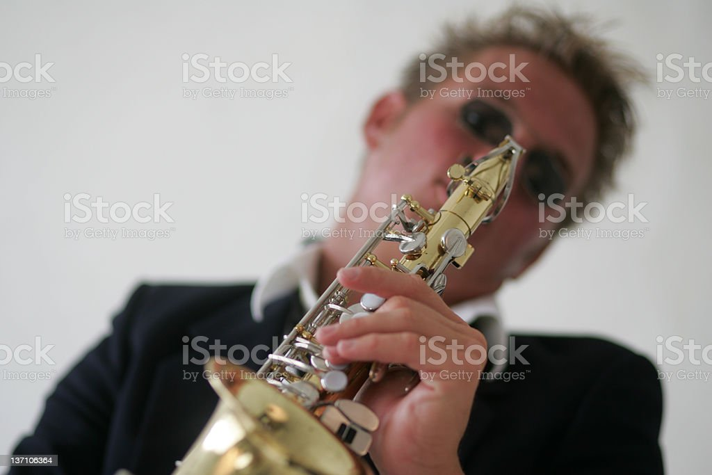 Sax Player 9537a stock photo