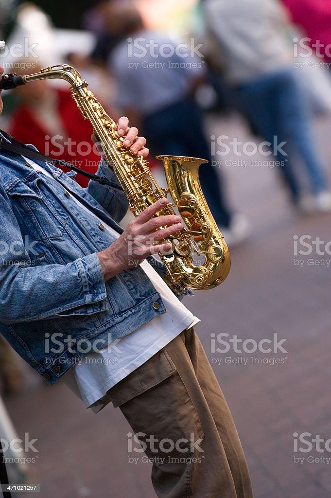 Sax player royalty-free stock photo