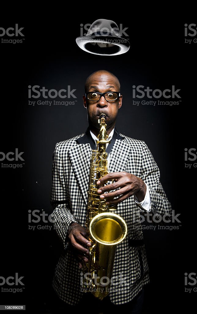 Saxamaphone Player stock photo