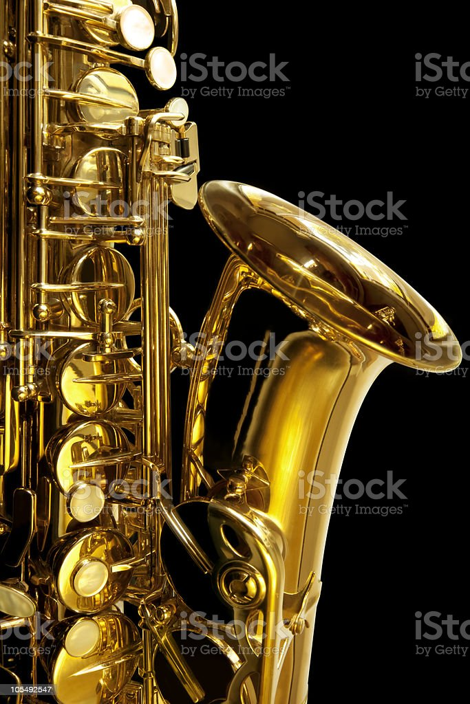 Saxaphone Detail royalty-free stock photo