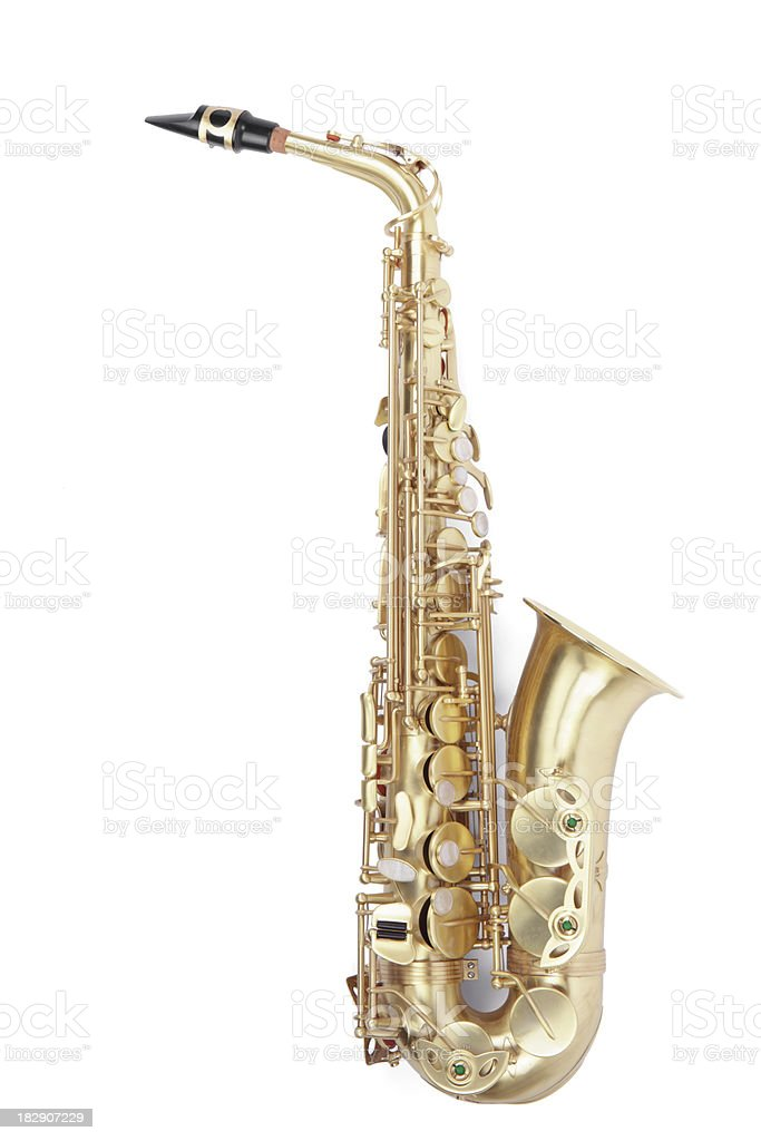 Saxaphone royalty-free stock photo