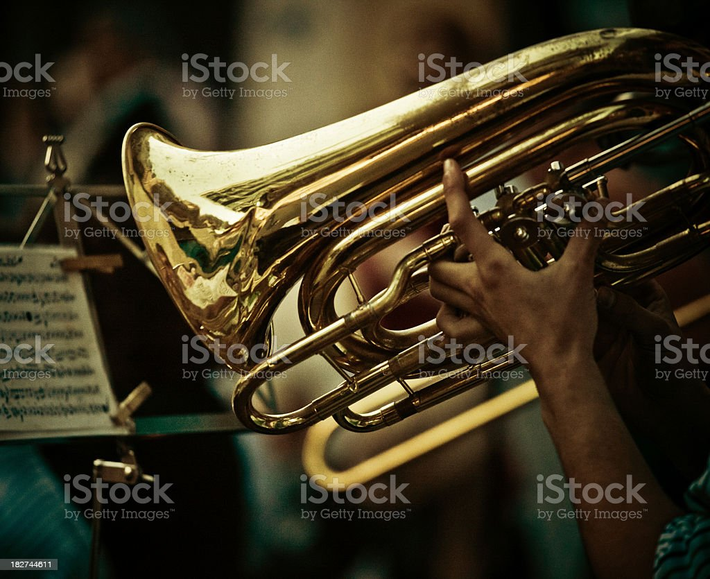 saxhorn wind instrument royalty-free stock photo