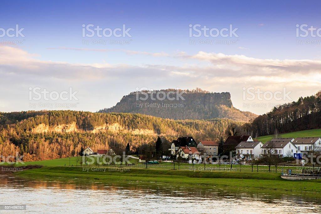 Saxon Switzerland Lilienstein stock photo